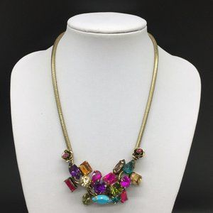 Betsey Johnson Colorful Rhinestone Necklace